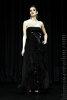 robe bustier noire en dentelle