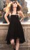 robe bustier noire mi-longue